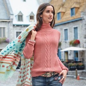 Sundance cabled toasty tweed pullover